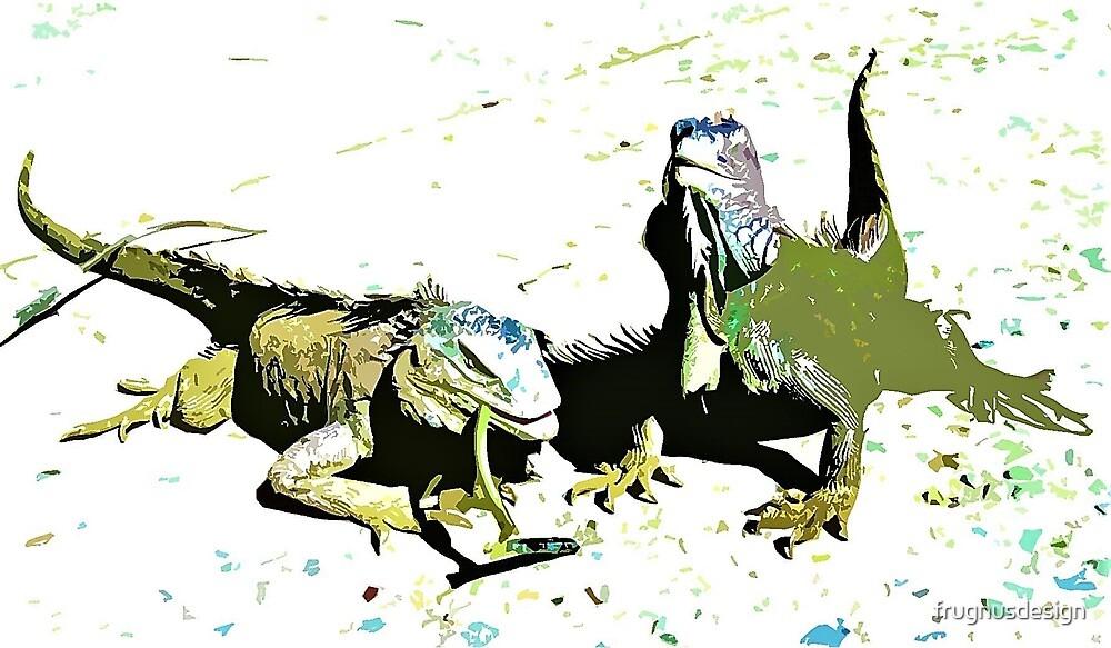 Iguana Duo by frugnusdesign