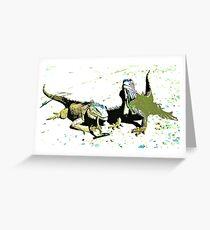 Iguana Duo Greeting Card