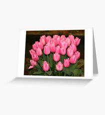 """Pink Tulips"" Greeting Card"