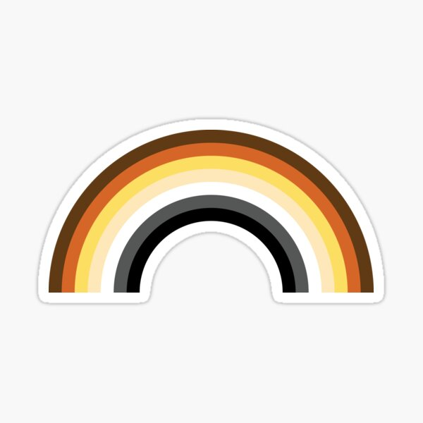 Bear Flag Rainbow Sticker