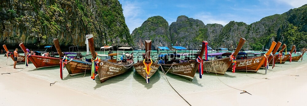 Maya Bay, Ko Phi Phi Lee Island, Thailand by Ross Campbell