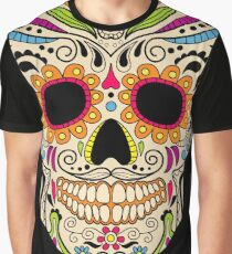 Mexican color skull Graphic T-Shirt