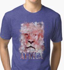 Watercolor Lion Vintage Africa Illustration Tri-blend T-Shirt