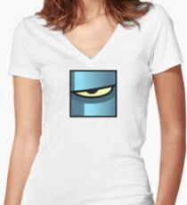 COLOSSAL ROBOT 28 ULTRA-EXTREME Women's Fitted V-Neck T-Shirt