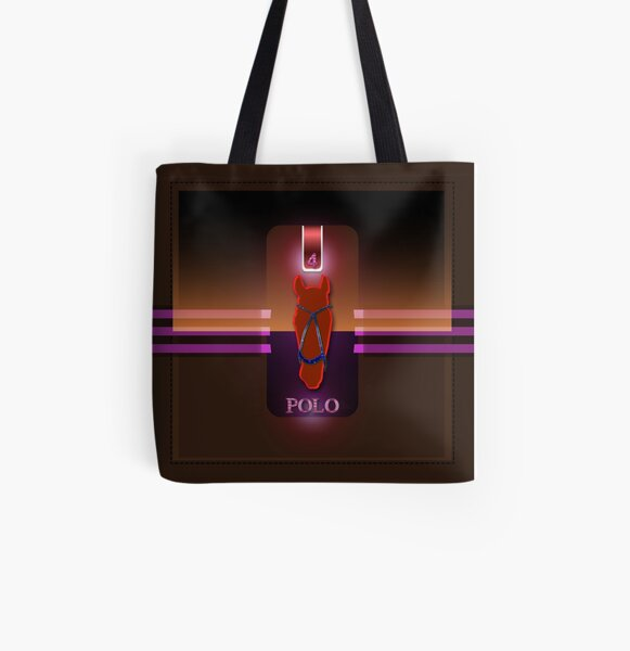 polohorse red All Over Print Tote Bag