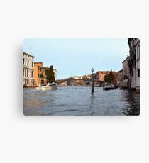 6 June 2017 The Canal Grande near the Ponte dell'Accademia in Venice, Italy Canvas Print