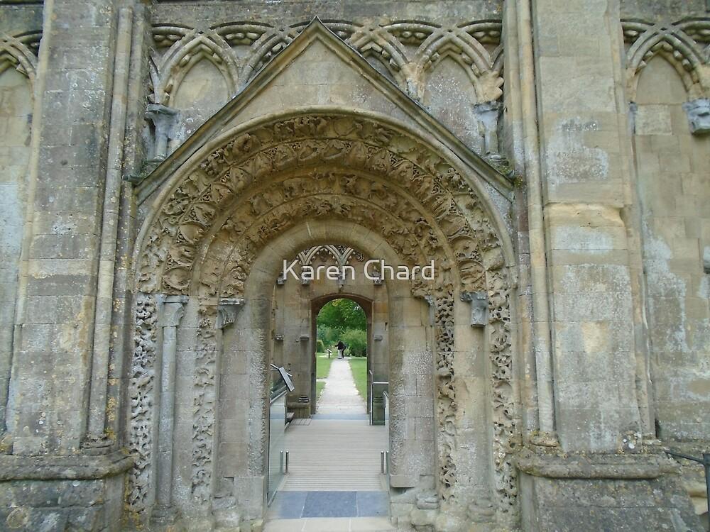 Glstonbury Abbey Ruins by Karen Chard