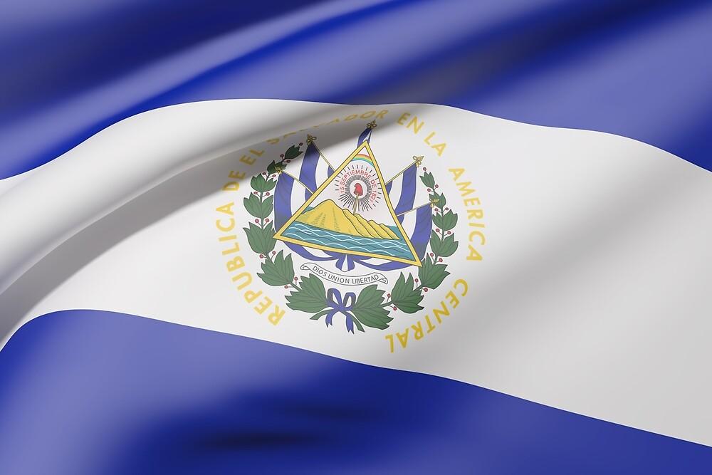 El Salvador flag by erllre74