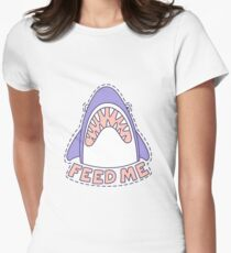 Feed Me Shark Womens Fitted T-Shirt