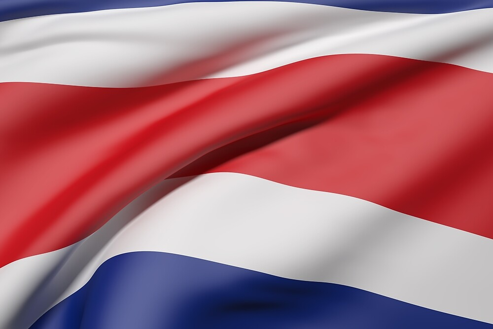 Costa Rica flag by erllre74