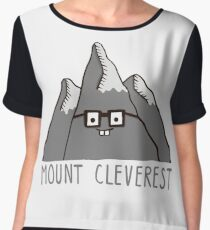 Nerd Mount Cleverest Women's Chiffon Top