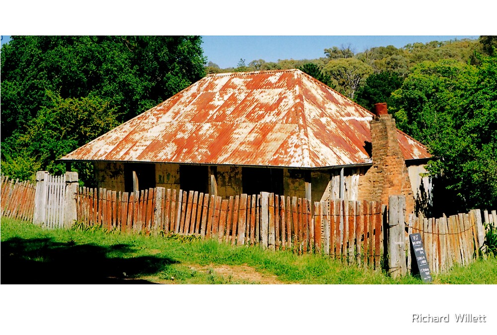 Original house from the Gold Rush at Hill End NSW by Richard  Willett