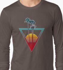 Synthwave Summer Sunset Long Sleeve T-Shirt