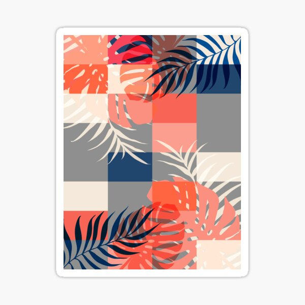 Tropical Puzzle #redbubble #decor #buyart Sticker