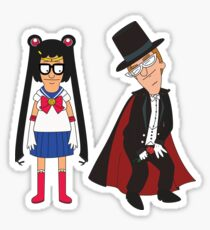 Tina Moon and Buttexdo Mask Sticker