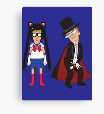 Tina Moon and Buttexdo Mask Canvas Print
