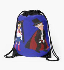Tina Moon and Buttexdo Mask Drawstring Bag
