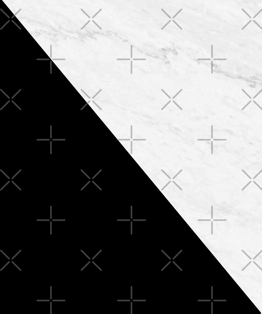 Marble And Black Diagonal by by-jwp