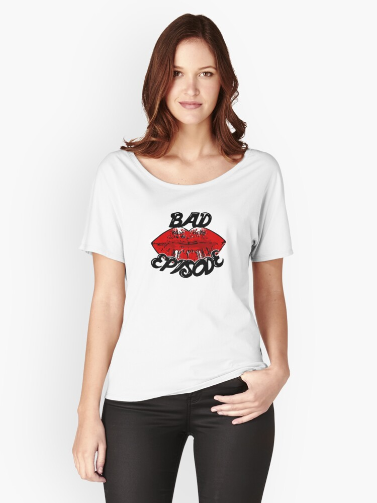 Bad Episode Red Lips Women's Relaxed Fit T-Shirt Front