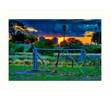 """At The Farm Gate"" Art Print"