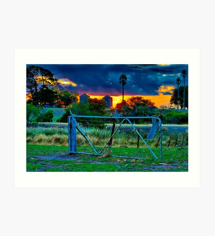 """""""At The Farm Gate"""" Art Print"""