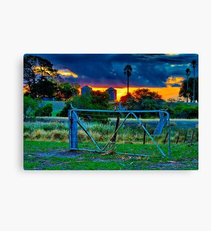"""""""At The Farm Gate"""" Canvas Print"""