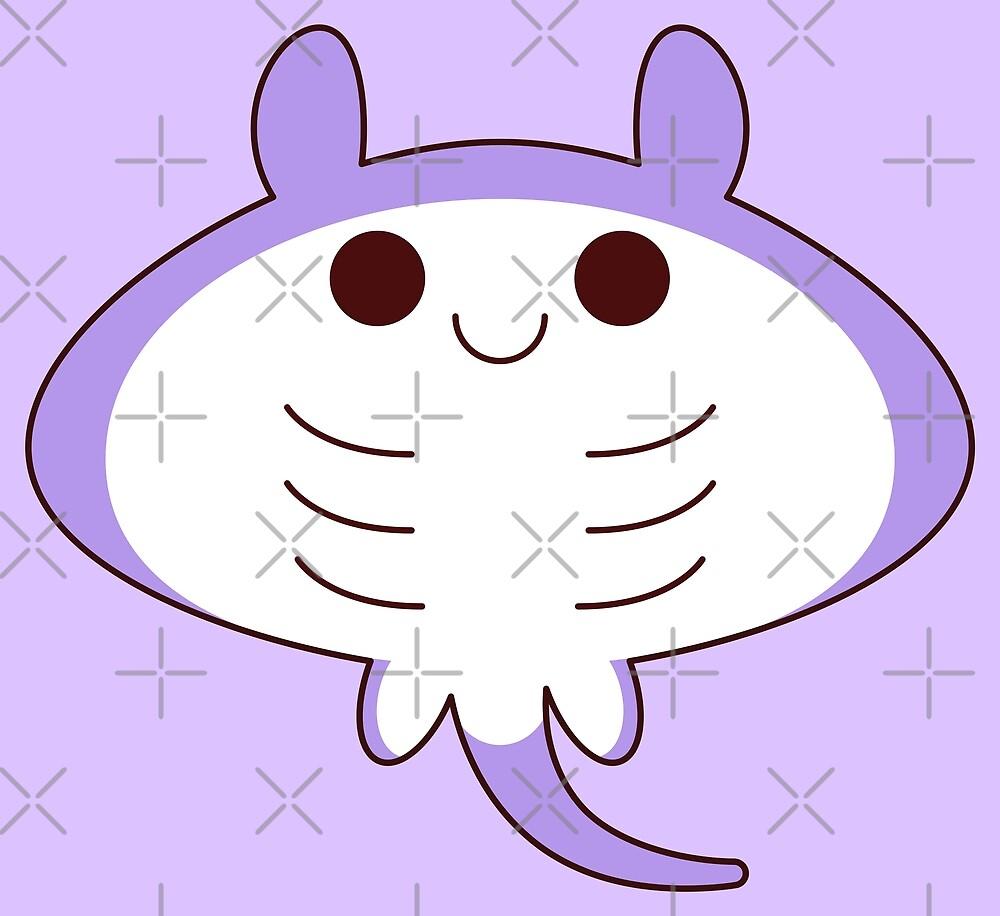 kawaii purple sting ray by kittybox