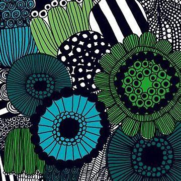 Green flowers by angeeelsdrawing