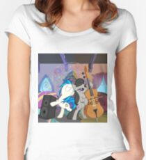 my little pony octavia and vinyl Women's Fitted Scoop T-Shirt