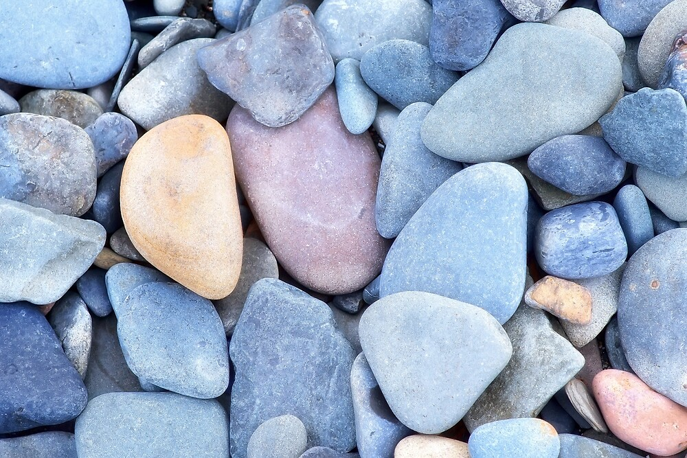 Stones from the beach by Mariia Kalinichenko