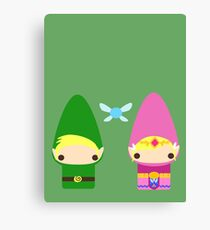 Gnome Link and Zelda Canvas Print