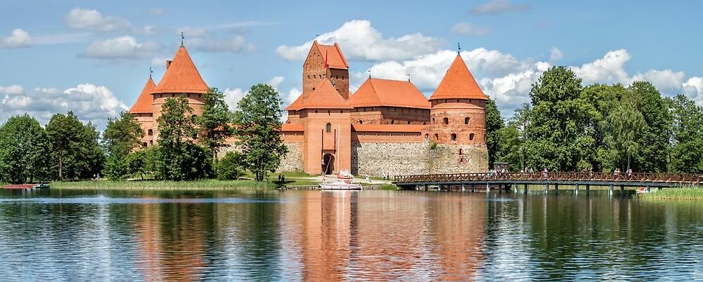 Trakai Castle on Lake Galve Island by Geraldas Galinauskas