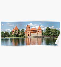 Trakai Castle on Lake Galve Island Poster