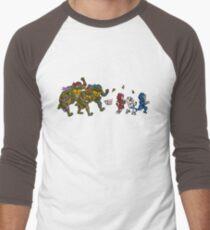 Turtles VS Cats Men's Baseball ¾ T-Shirt
