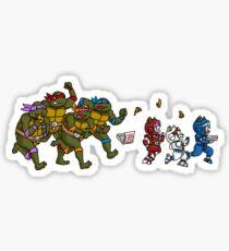 Turtles VS Cats Sticker
