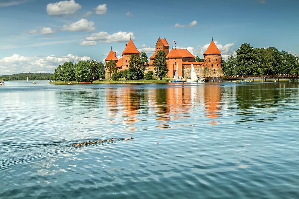 Trakai Castle in Lithuania by Geraldas Galinauskas