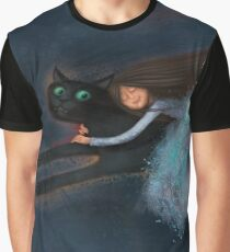 Flying on my cat Graphic T-Shirt
