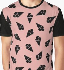 Pattern with ice cream Graphic T-Shirt
