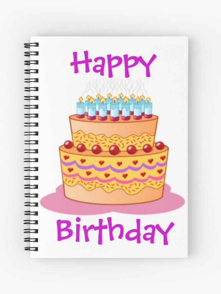 Astonishing Happy Birthday Big Birthday Cake Spiral Notebook By Blackstargirl Funny Birthday Cards Online Alyptdamsfinfo