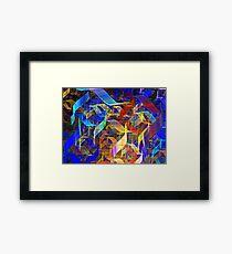 Blue Shift Framed Print