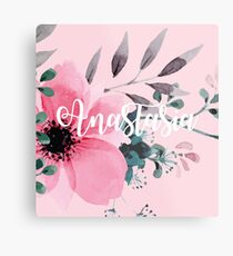 Floral Personalised Metal Print