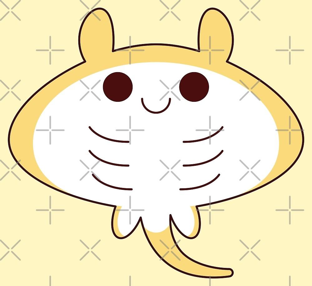 kawaii yellow sting ray by kittybox