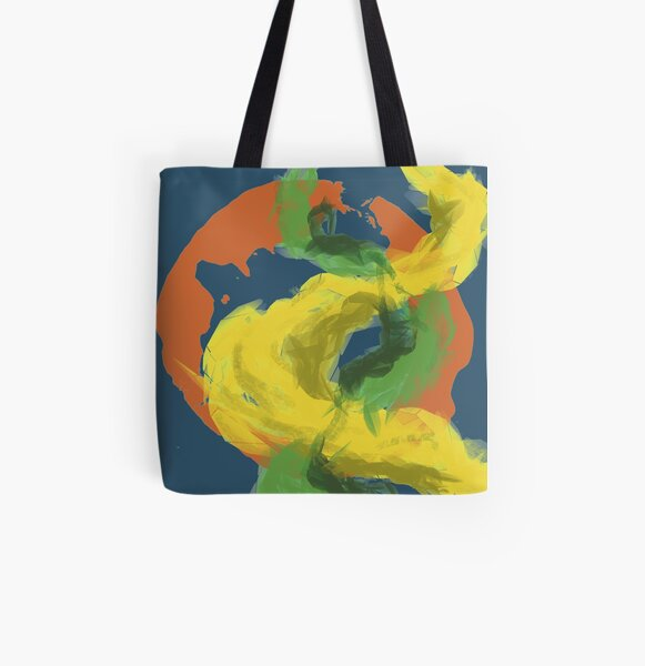 Abstractitude of Lines All Over Print Tote Bag