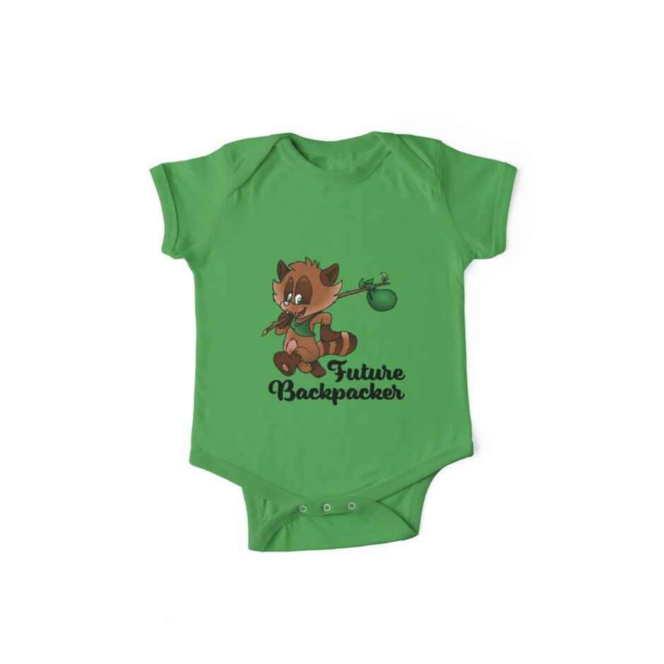 Future Backpacker Baby Bodysuit by my-sanity