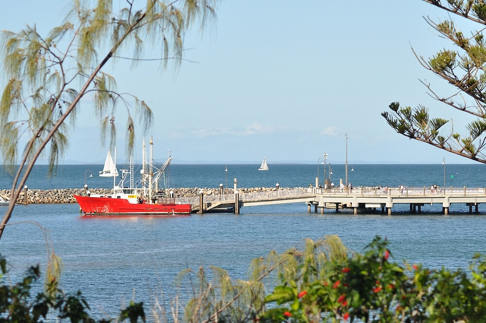 Redcliffe boat harbour and jetty by Kerry LeBoutillier