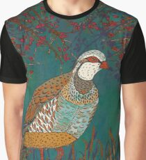 Partridge in the Hedgerow Graphic T-Shirt