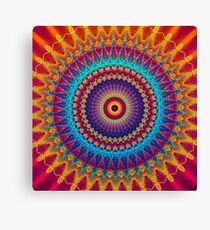 Fire and Ice Mandala Canvas Print
