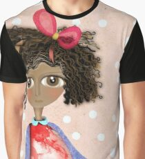 Africa Doll Wonderland Grungy Pink Old Styled Polka Dots Graphic T-Shirt