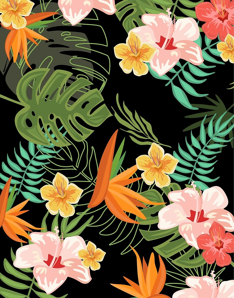 Tropical Flowers by topvectors