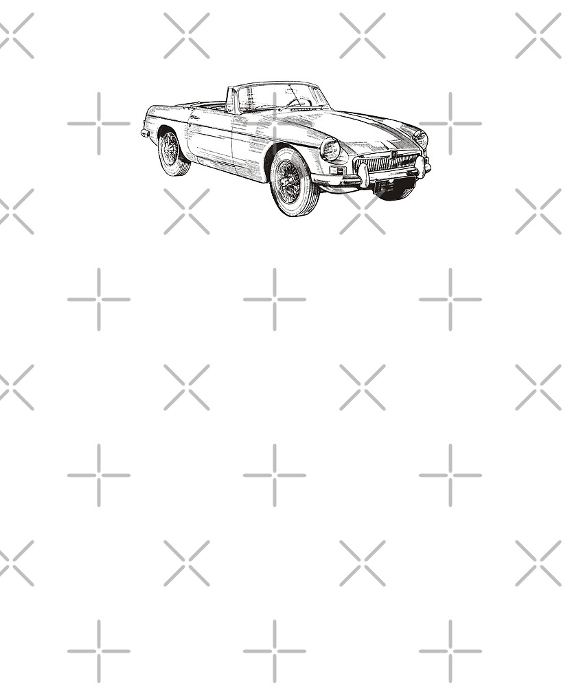 MG MGB Classic British Car by cl0thespin